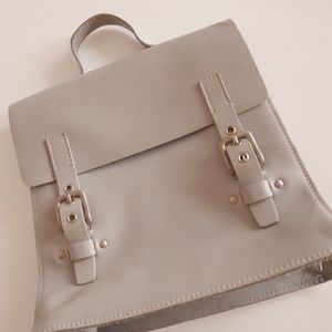 Miu Miu Dove Gray Leather Tote / School Bag